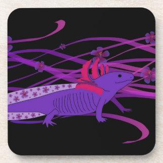 Axolotl Hiebiskus Beverage Coasters