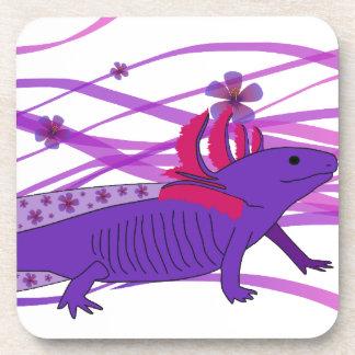 Axolotl Hiebiskus II Drink Coasters