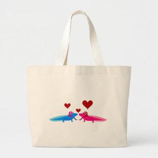 Axolotl in Love Bag