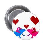 Axolotl in Love Buttons