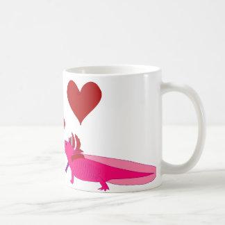 Axolotl in Love Coffee Mug