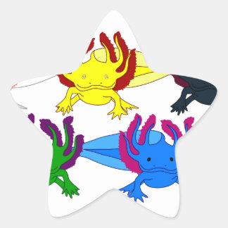 Axolotl modelo Frontal Pegatina En Forma De Estrella