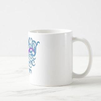 Axolotl of purple in the water coffee mug