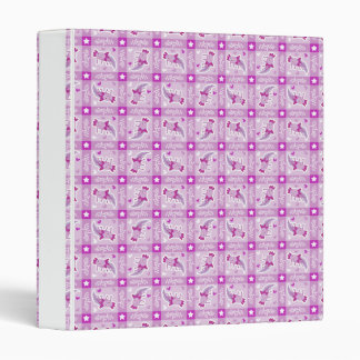 Axolotl Pink Plaid Pattern Binder
