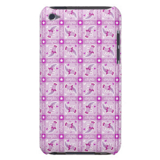 Axolotl Pink Plaid Pattern iPod Touch Cases