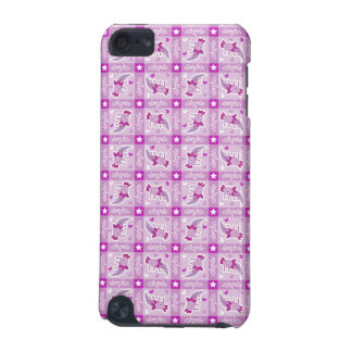 Axolotl Pink Plaid Pattern iPod Touch (5th Generation) Cases