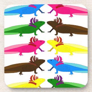 Axolotl sample drink coaster