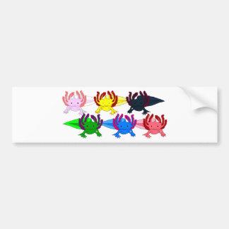 Axolotl sample frontal bumper sticker