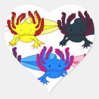 Axolotl sample frontal stickers