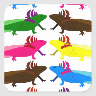 Axolotl sample square stickers