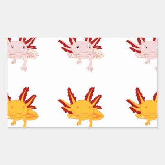 Axolotl sample rectangular stickers