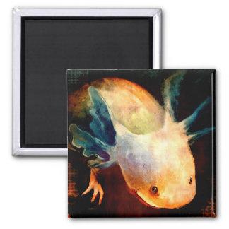 Axolotl Sun 2 Inch Square Magnet