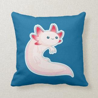 Axolotl Throw Pillow