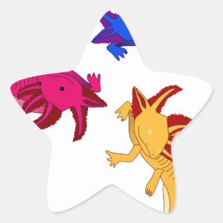 Axolotl trio sticker