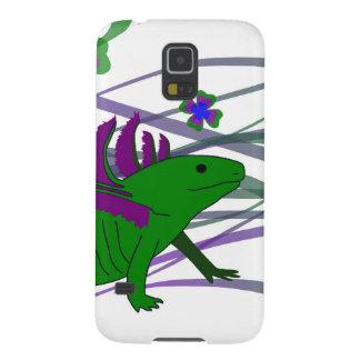 Axolotl verde en la suerte funda galaxy s5