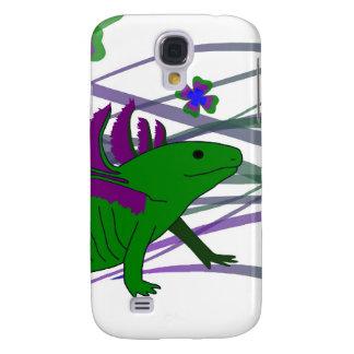 Axolotl verde en la suerte samsung galaxy s4 cover