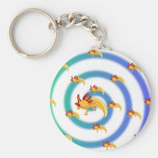 Axolotl vortex blue key chain