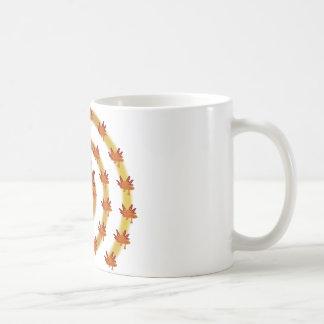 Axolotl vortex orange coffee mug