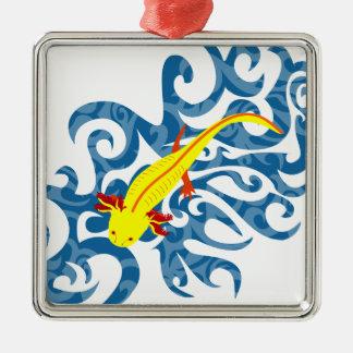 Axolotl yellow in the Wassser Metal Ornament