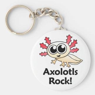 Axolotls Rock! Keychain