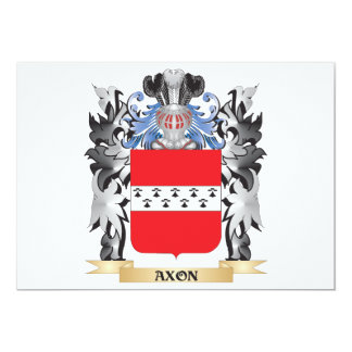Axon Coat of Arms - Family Crest 5x7 Paper Invitation Card