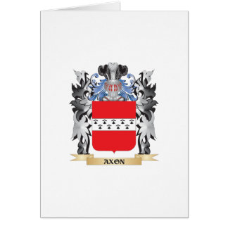 Axon Coat of Arms - Family Crest Greeting Card