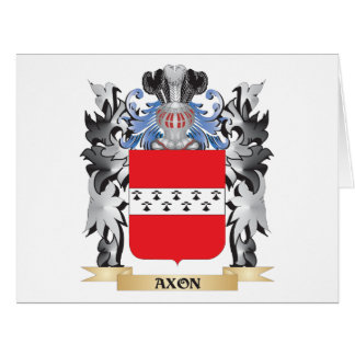 Axon Coat of Arms - Family Crest Large Greeting Card