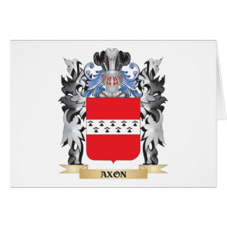 Axon Coat of Arms - Family Crest Stationery Note Card