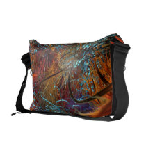 rainbow, fractal, apophysis, axons, nerves, abstract, Rickshaw messenger bag with custom graphic design