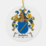 Axthelm Family Crest Christmas Ornaments