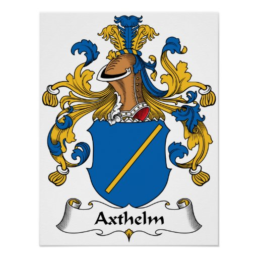 Axthelm Family Crest Print