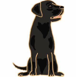 AY- Black Labrador Cartoon Photo Sculpture