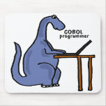 AY- COBOL Programmer Dinosaur Mousepad