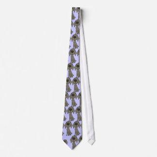 AY- corbata del dibujo animado de Weimaraner