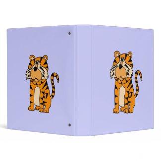 AY- Cute Tiger Cartoon Binder