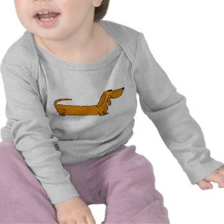 AY- equipo divertido del bebé del Dachshund Camiseta