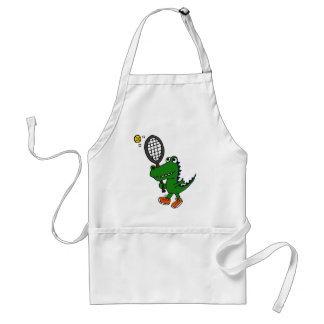AY- Funny Gator Playing Tennis Adult Apron