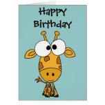 AY- Funny Giraffe Cartoon Card