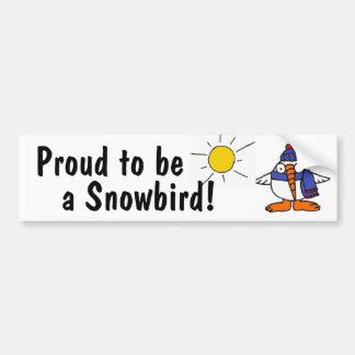AY- Funny Snowbird Bumper Sticker