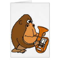 AY- Gorilla Playing the Tuba Card