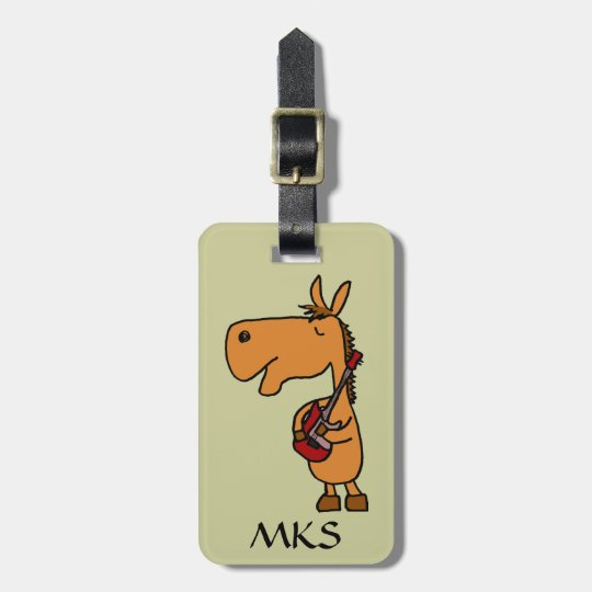 AY- Horse Playing Guitar Luggage tag