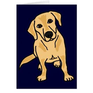 AY- labrador retriever amarillo Notecards o Tarjeta De Felicitación