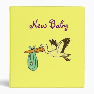 AY- New Baby Stork Binder