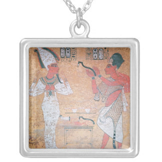 Ay performing the opening of the mouth ceremony square pendant necklace