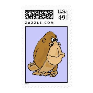 AY- sellos divertidos del gorila