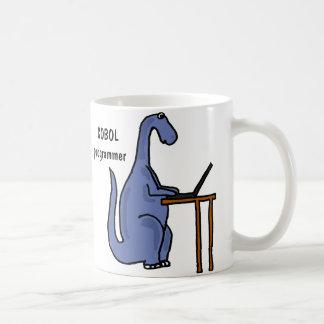 AY- taza del dinosaurio del programador de COBOL