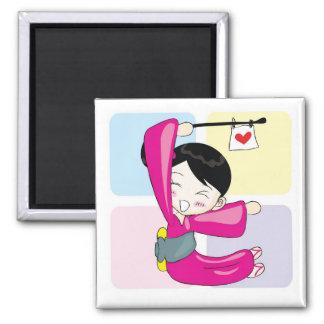 Aya-chan E-shape Square Magnet
