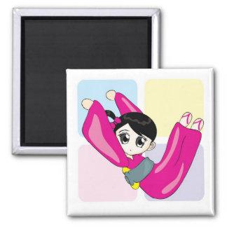 Aya-chan V-shape Square Magnet
