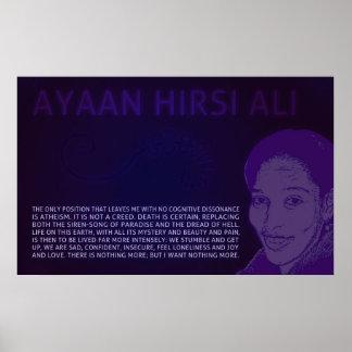 Ayaan Hirsi Ali el ningún poster cognoscitivo de