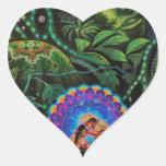 Ayahuasca Vision Heart Sticker